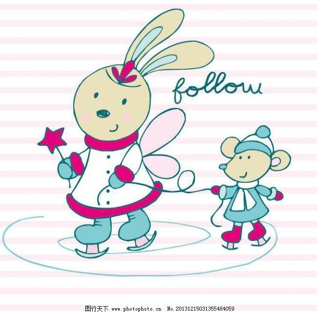 插画 创意 创意插画 创意设计 儿童服装 儿童绘画 儿童印花 小兔子