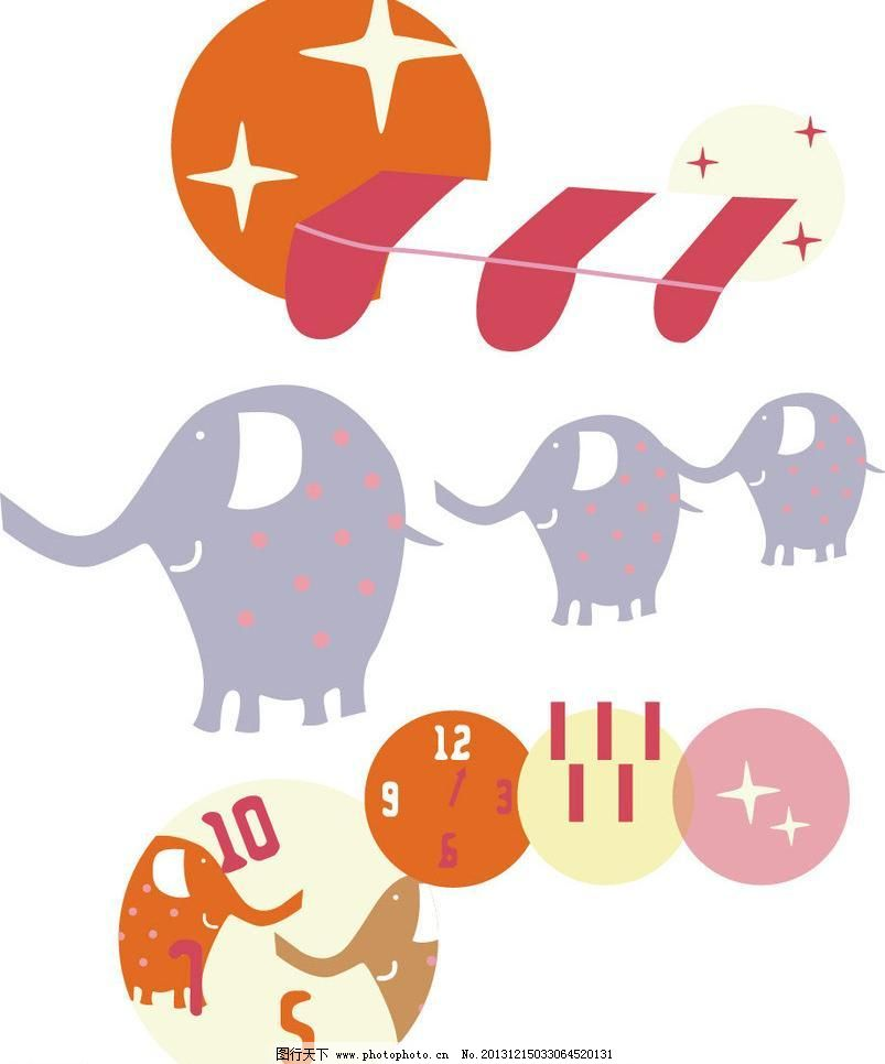 大象 本本封面 插画 创意 创意插画 创意设计 儿童服装 儿童绘画