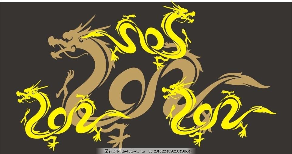 龙矢量图 龙 矢量图 中国龙 中国元素 底纹背景 底纹边框 矢量 cdr