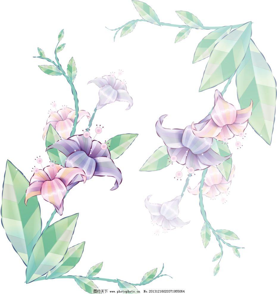 百合花纹 百合 百合移门 百合图案 梦幻 彩色百合 手绘花纹 精美花纹