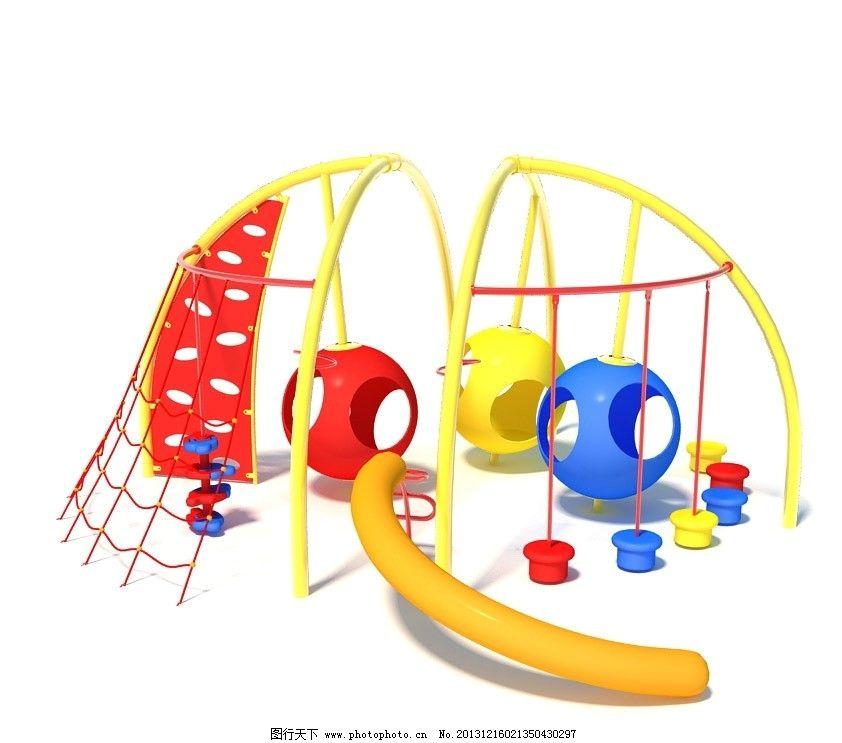 室外模型 儿童 游乐园 游乐园设施 模型 游乐园设施模型 3d设计模型