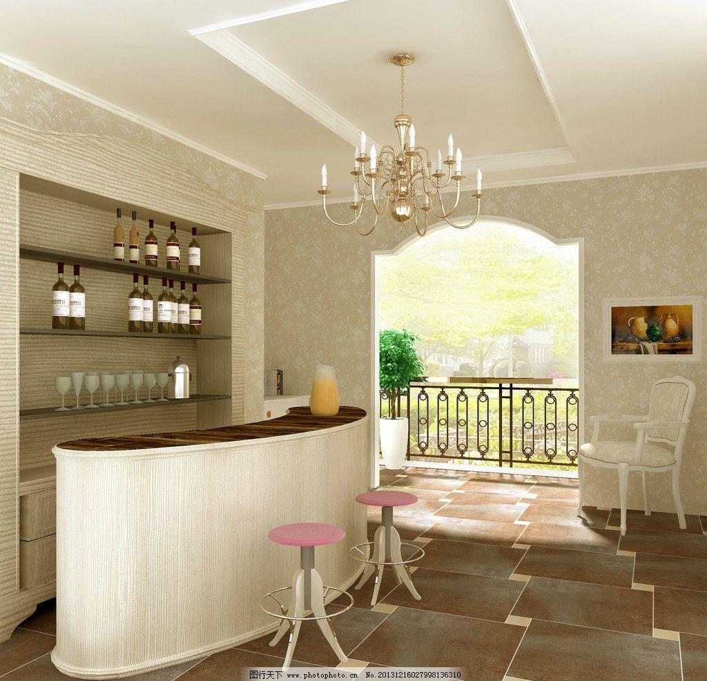 酒吧 欧式豪华 别墅 餐厅 现代 室内设计 环境设计 设计 72dpi jpg