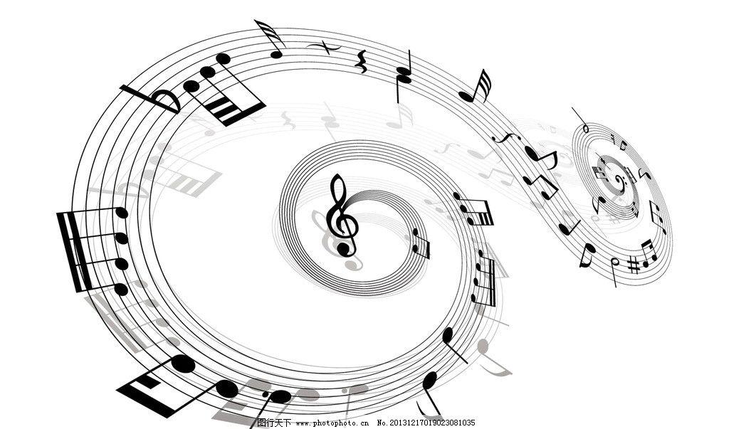 音符壁纸 音符 黑白色      五线谱 素材 舞蹈音乐 文化艺术 设计 100