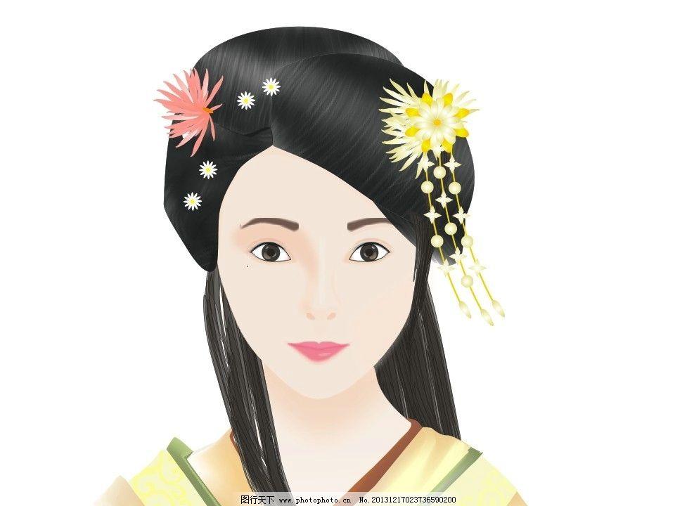 美女 古代美女 古代 古典美女 卡通人物 古代人物 cdr美女 妇女女性