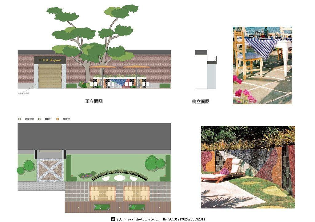 庭院景观 立面图 ai 植物配置 平面图 建筑景观 自然景观 矢量