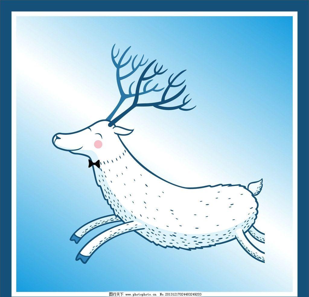 梅花鹿 花纹 图案 背景 圆圈 素材 底纹 动物 野生动物 生物世界 矢量