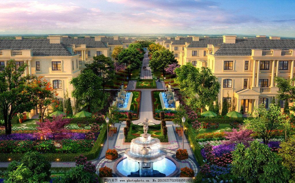 法式别墅景观设计图片