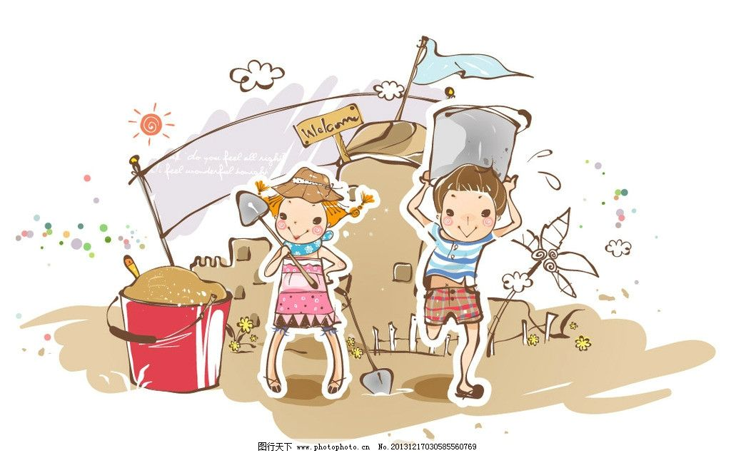 儿童乐园 卡通 卡通乐园 儿童绘画 卡通插画 卡通人物 卡通形象 铅笔