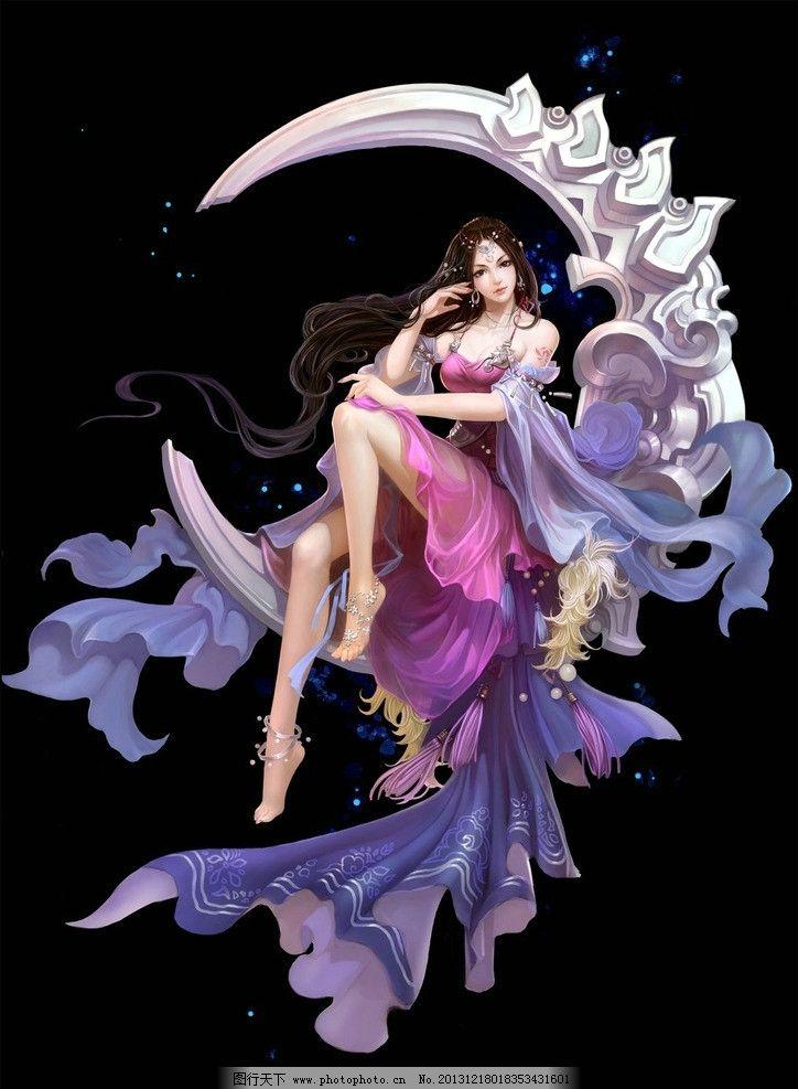 舞蹈人物手绘素描画