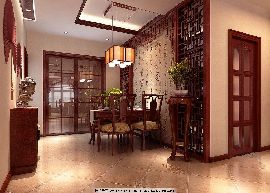 室内装饰效果图 中式 红木家居      装修 古典 3d设计 设计 72dpi