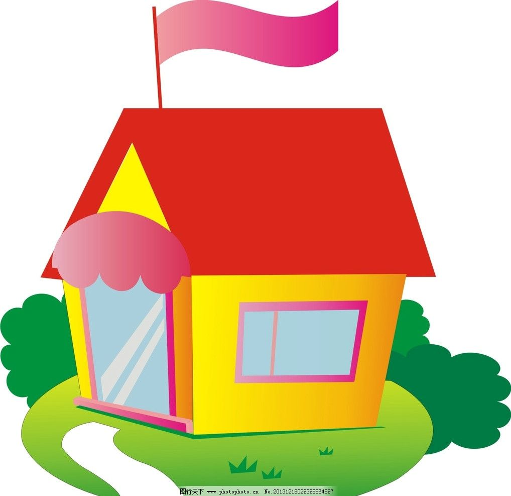 小房子 动画 卡通 矢量图 素材 广告设计 画册设计 矢量 cdr