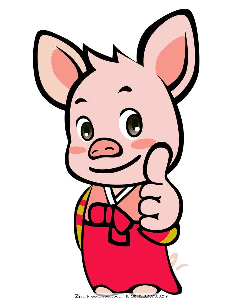 彩铅猪的步骤画法