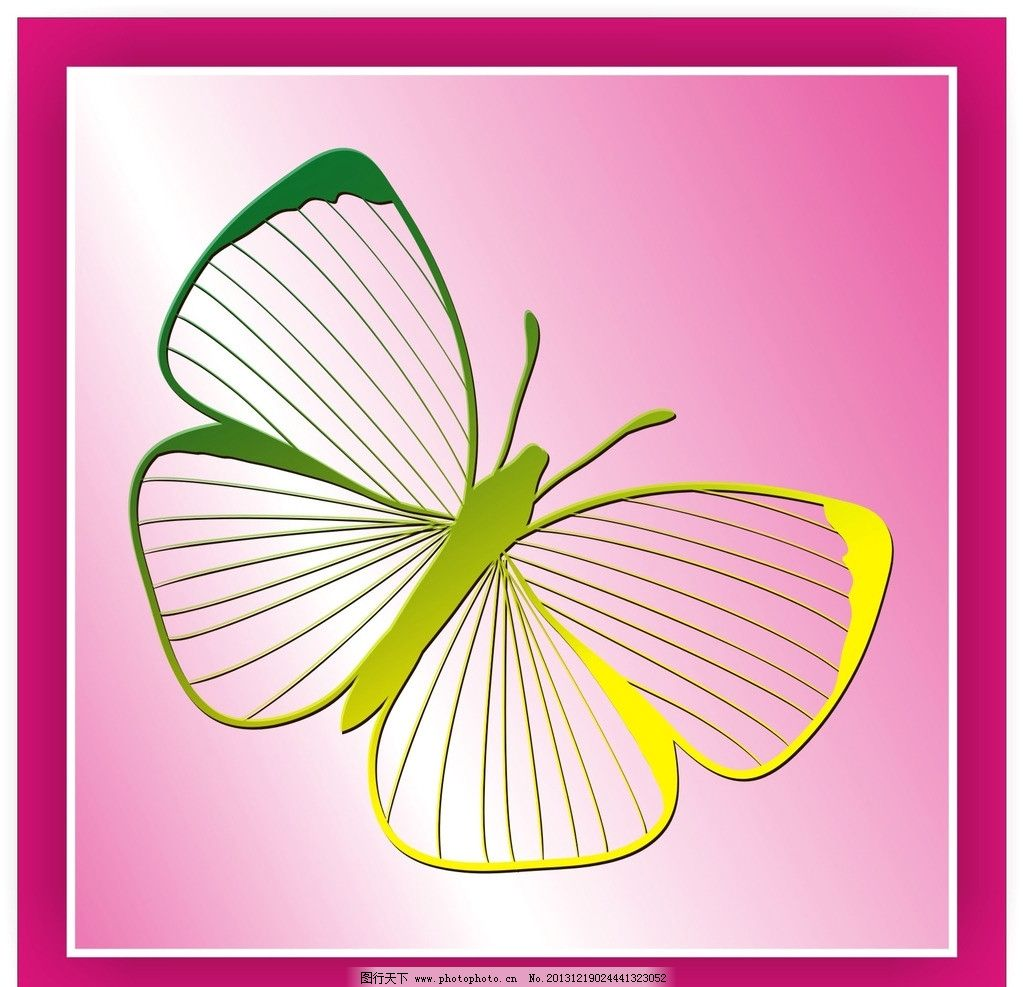蝴蝶 花纹 图案 背景 圆圈 底纹 动物 矢量