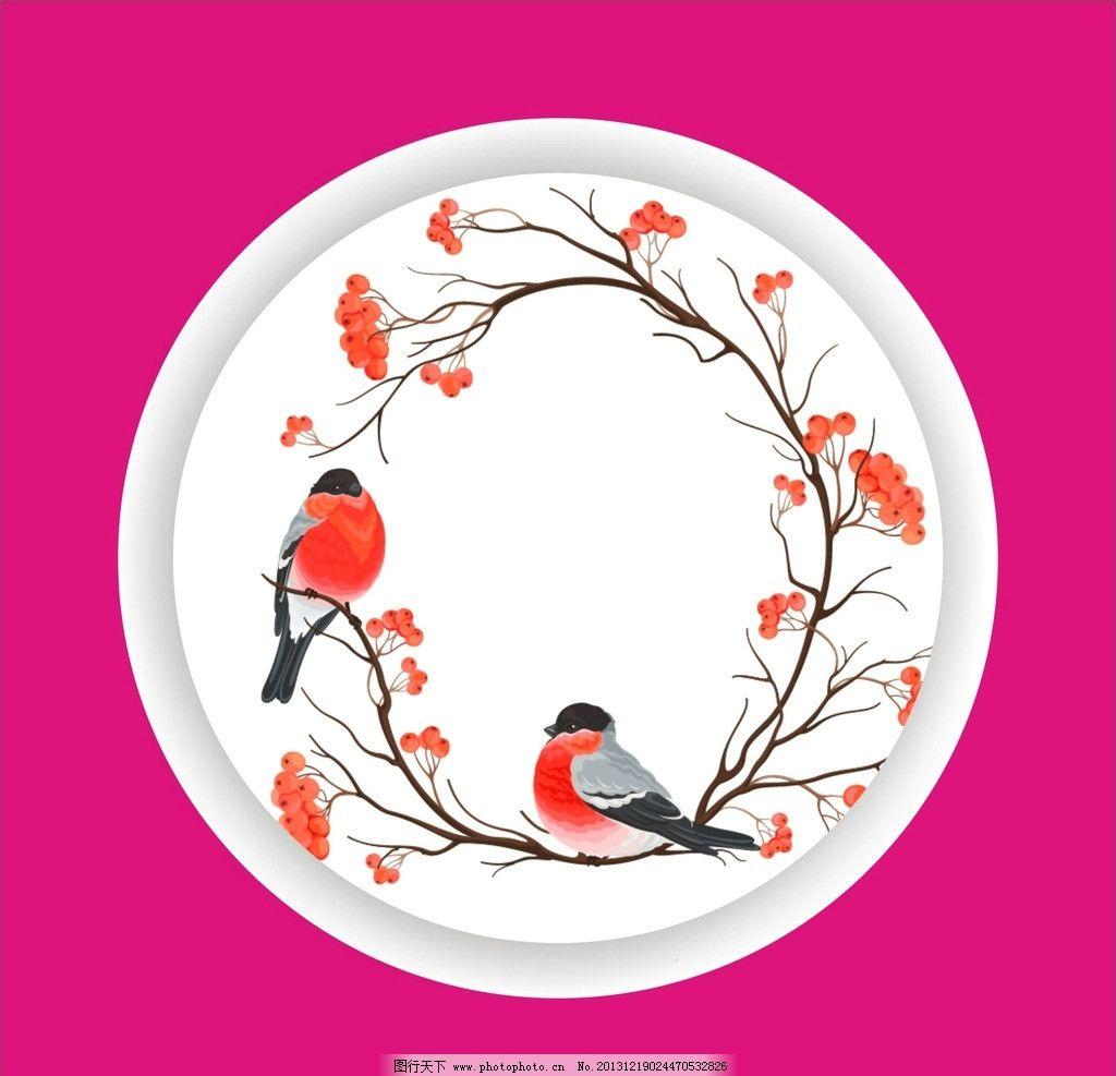 比翼鸟 花纹 图案 背景 圆圈 素材 底纹 动物 野生动物 生物世界 矢量