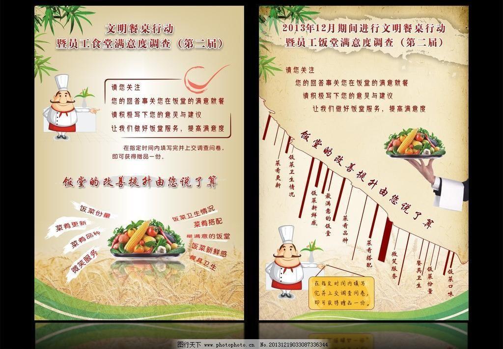 cdr 菜单菜谱 餐饮海报 厨师 创意海报 创意排版 创意中国风 光盘行动图片