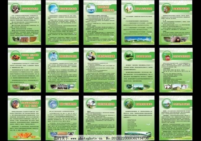 工业污染源排放 生活垃圾处理 森林覆盖 农药选用 展板模板 广告设计