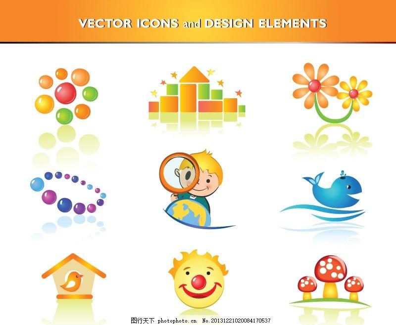图标 花卉 卡通人物 标志 图标图标 小孩 儿童 蘑菇 创意设计