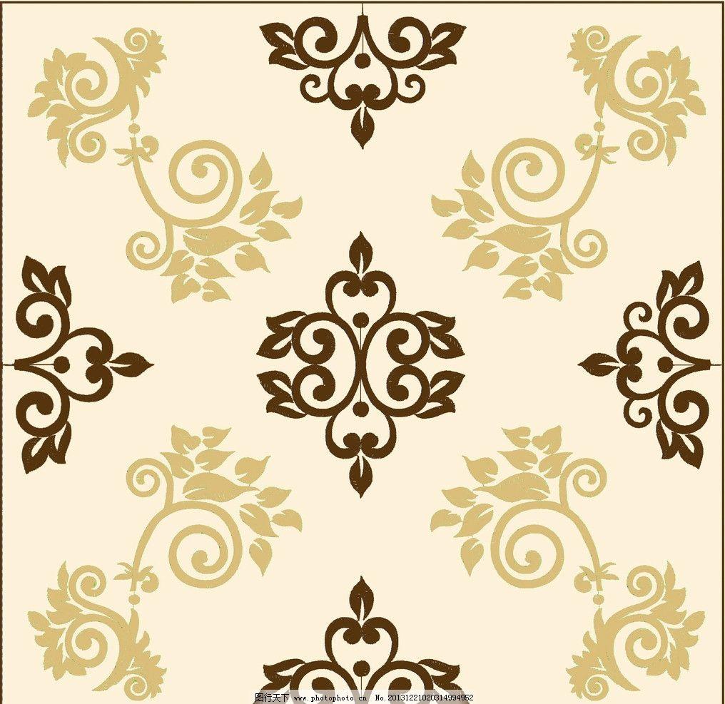 欧式花纹边框方形