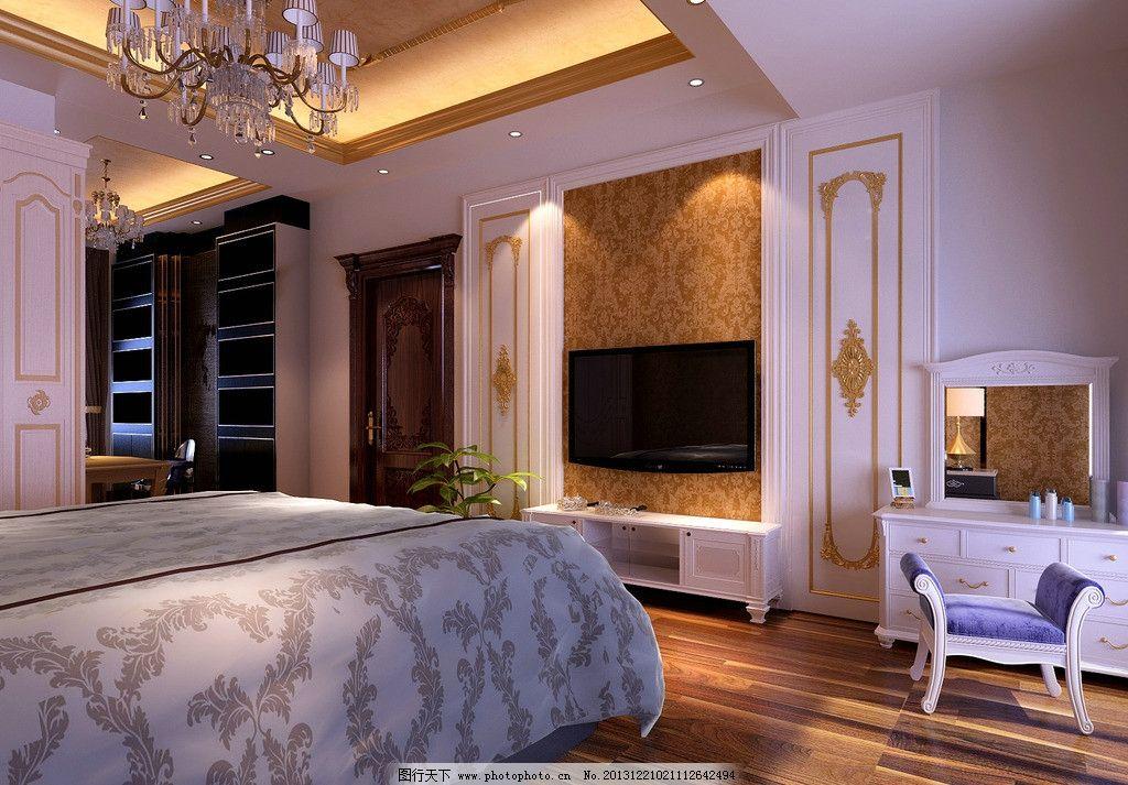 欧式卧室 欧式      柜子