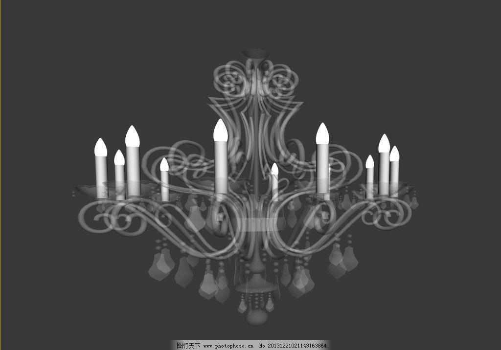 水晶灯模型 欧式吊灯 欧式吊灯模型 吊灯 水晶吊灯 效果图3d文件 室内