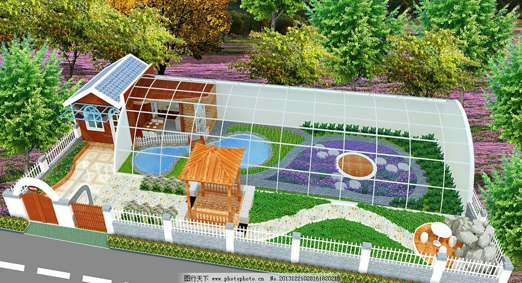 大棚 花园 生态园 小品 室外 景观设计 环境设计 设计 72dpi jpg