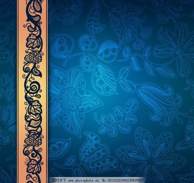 欧式古典花纹 背景 壁纸 边角 边框 标签 潮流 传统花纹 刺绣