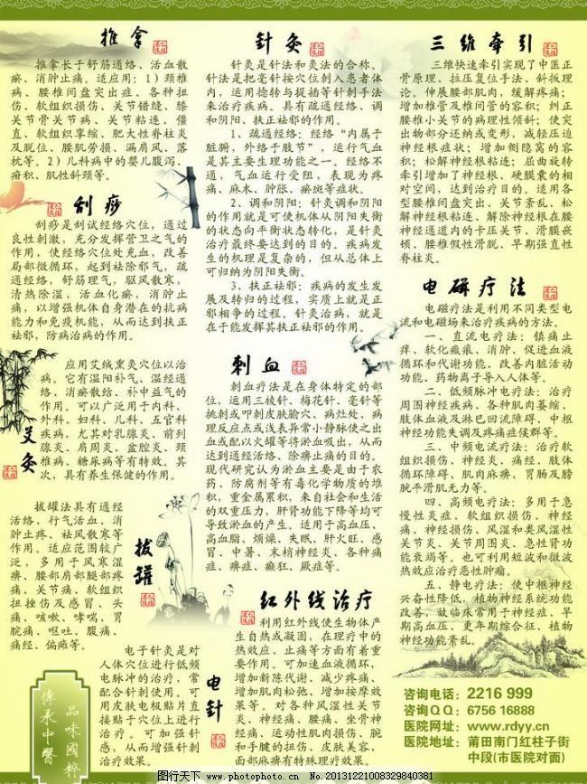 中医康复理疗展板图片