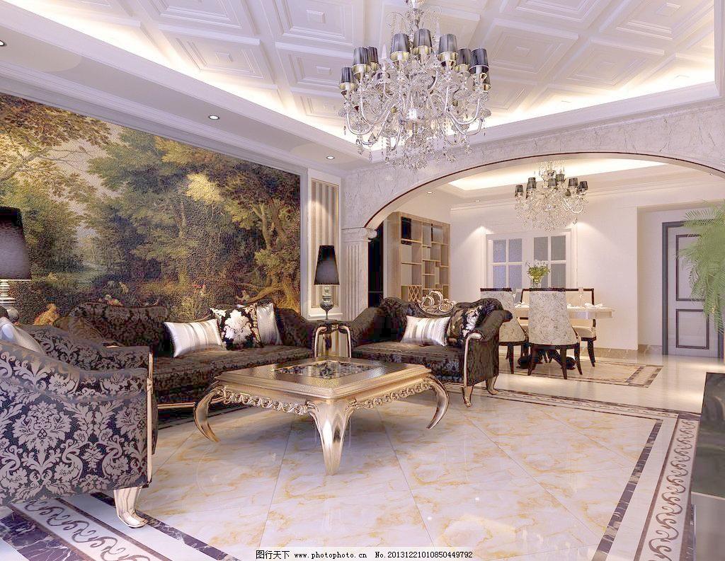 3d设计 3d作品 bmp 餐厅 吊顶      欧式 欧式客厅 沙发背景 设计