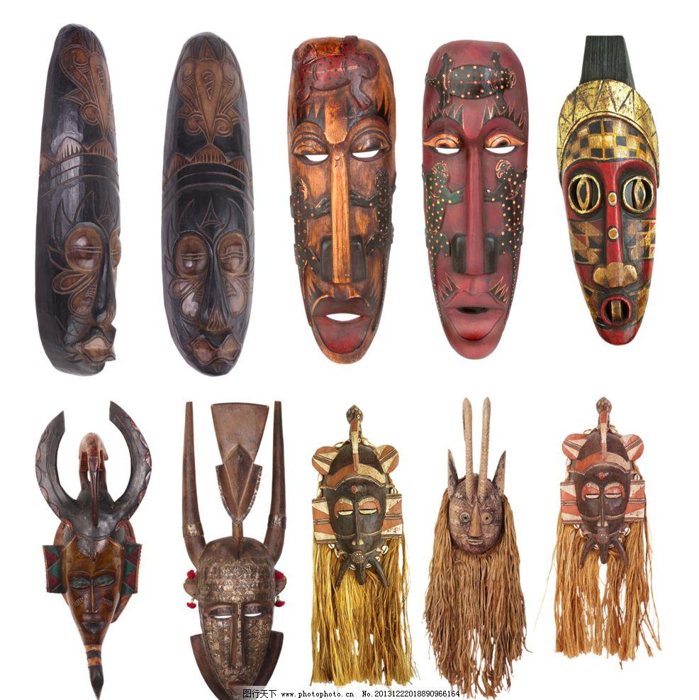木雕面具图片
