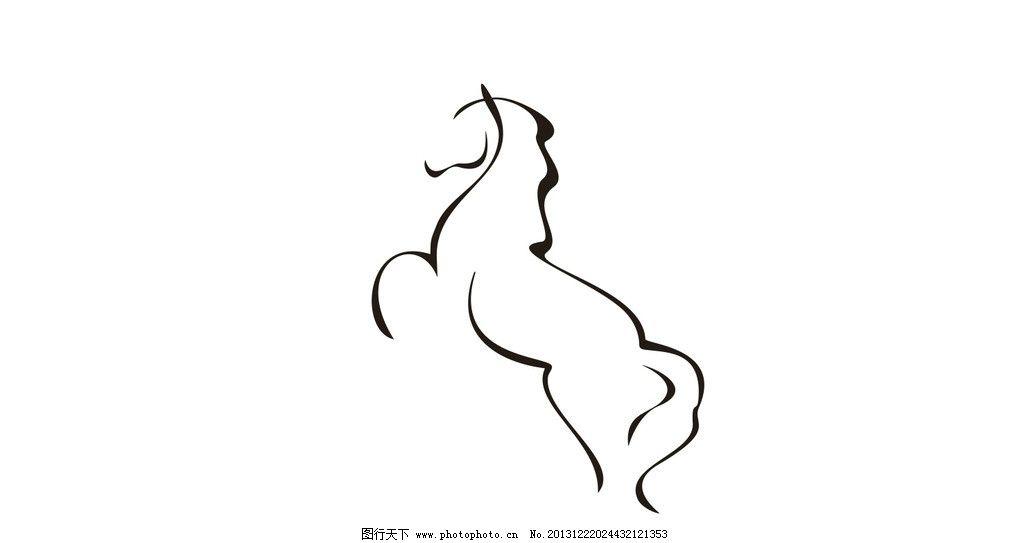 线条马图片_野生动物_生物世界_图行天下图库