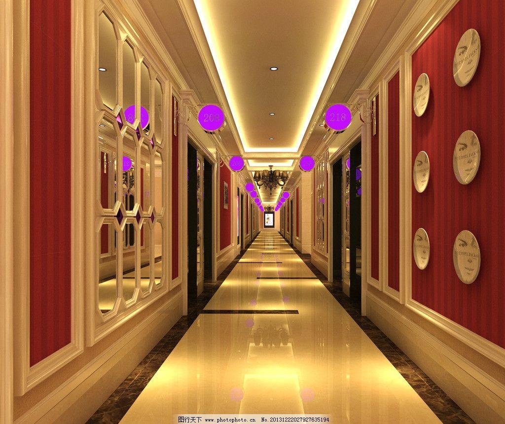 室内设计 ktv 歌厅 娱乐 包房 k歌 走廊 环境设计 设计 72dpi jpg