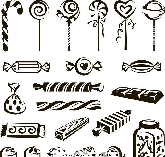 糖果 棒棒糖 餐饮 手绘 线条 餐饮图标 装饰 餐饮美食 生活百科