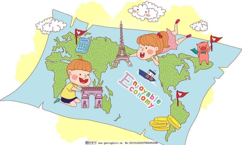 儿童绘画 卡通插画图片
