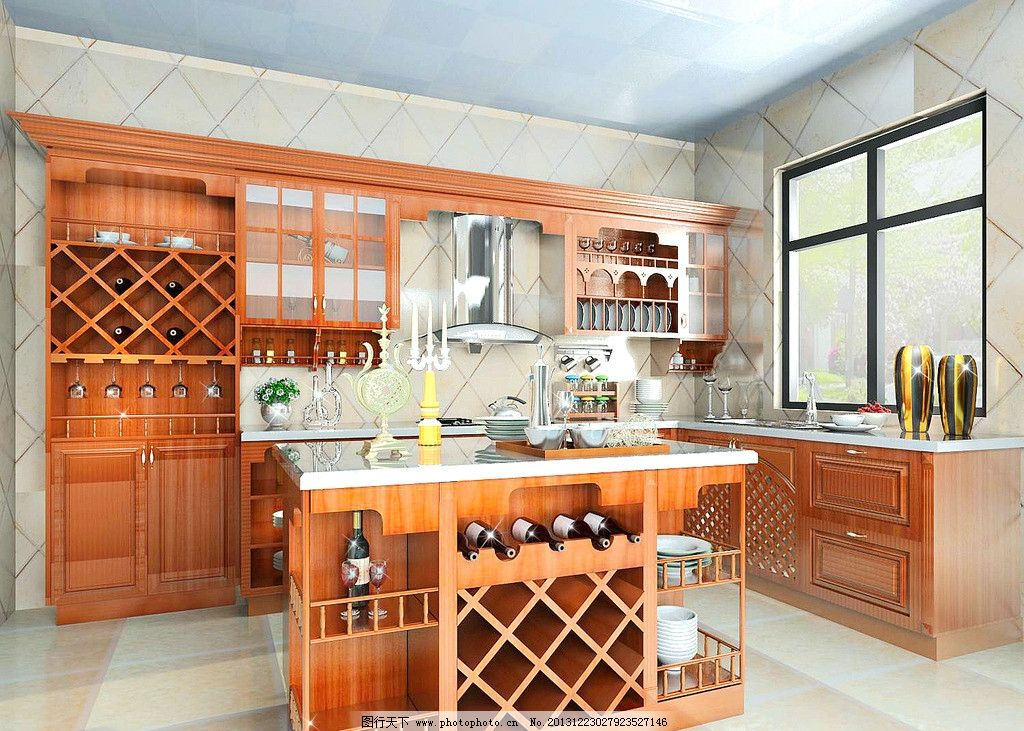 欧式实木厨房图片图片