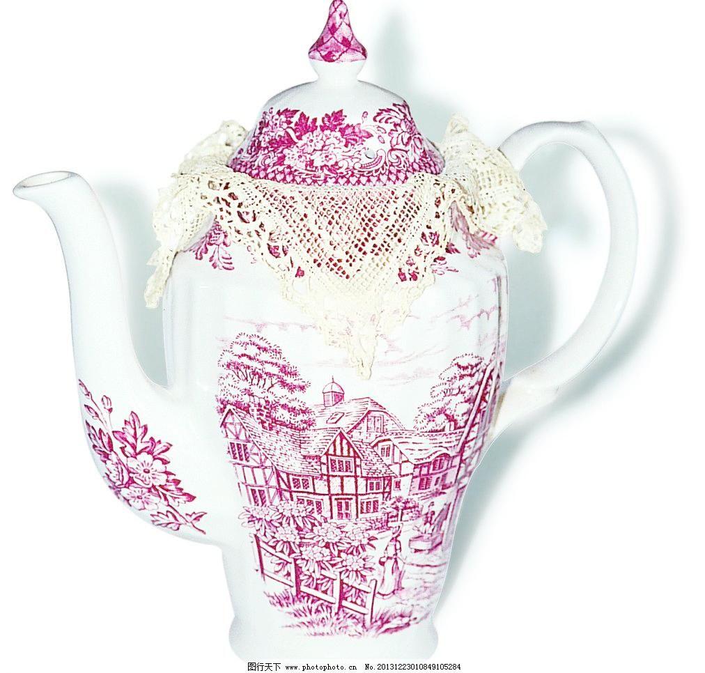 欧式茶壶瓷器咖啡壶图片