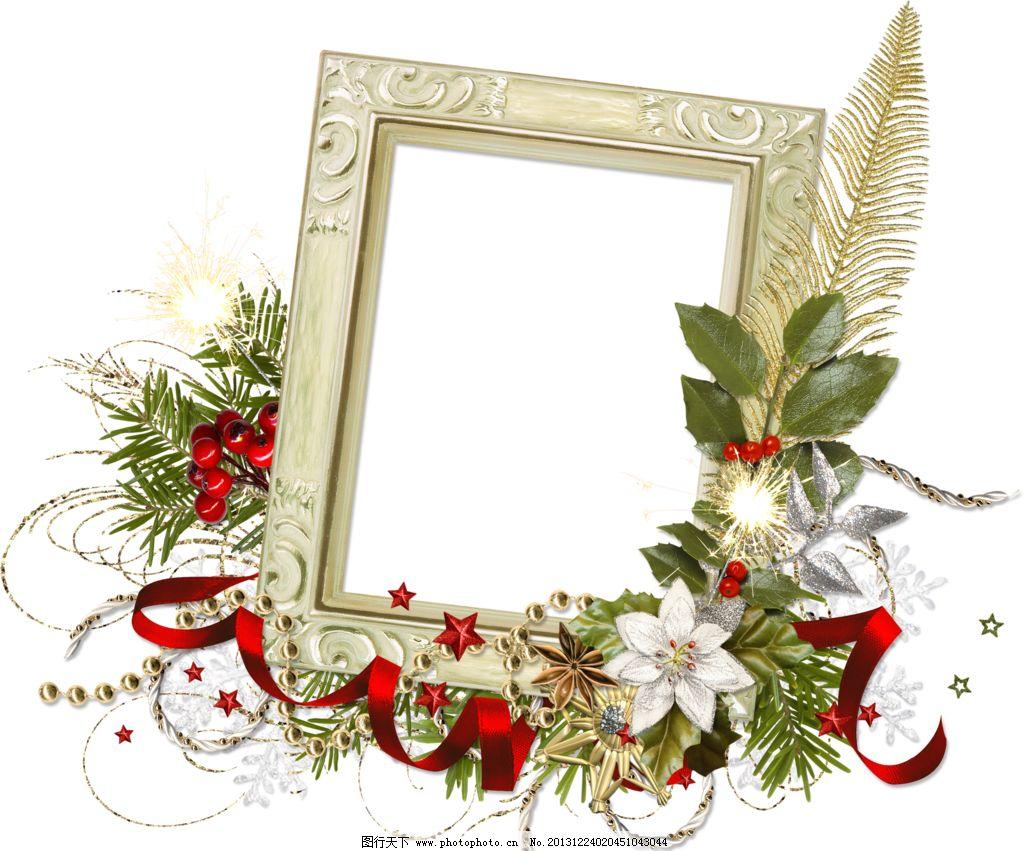 底纹边框 花卉相框