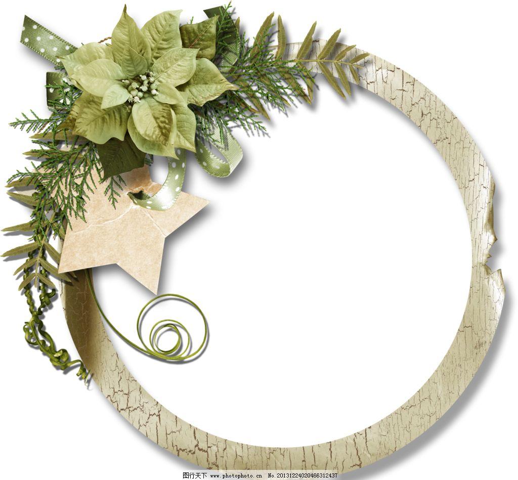 大头贴模版 边框图案 日本 韩国 流行相框 花朵 花边花纹 设计 边框