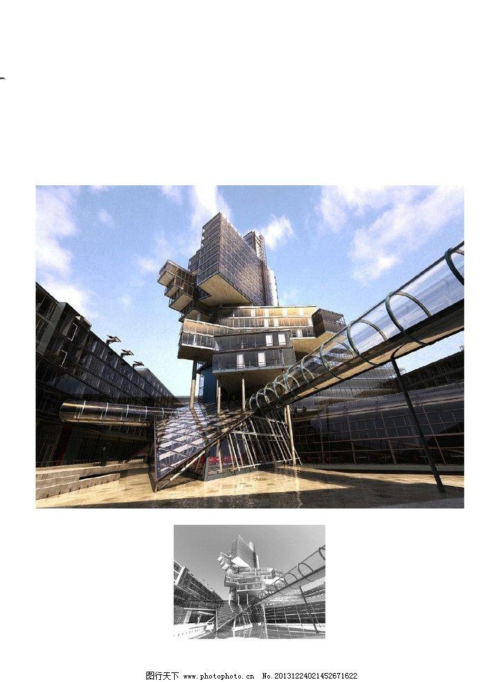 建筑 现代建筑 模型 室外模型 建筑表现 优秀模型 室内室外全模型二