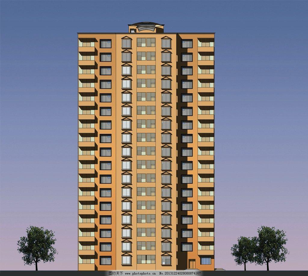 高层住宅 立面图 原创 高层 天空 树 建筑设计 环境设计 设计 72dpi j