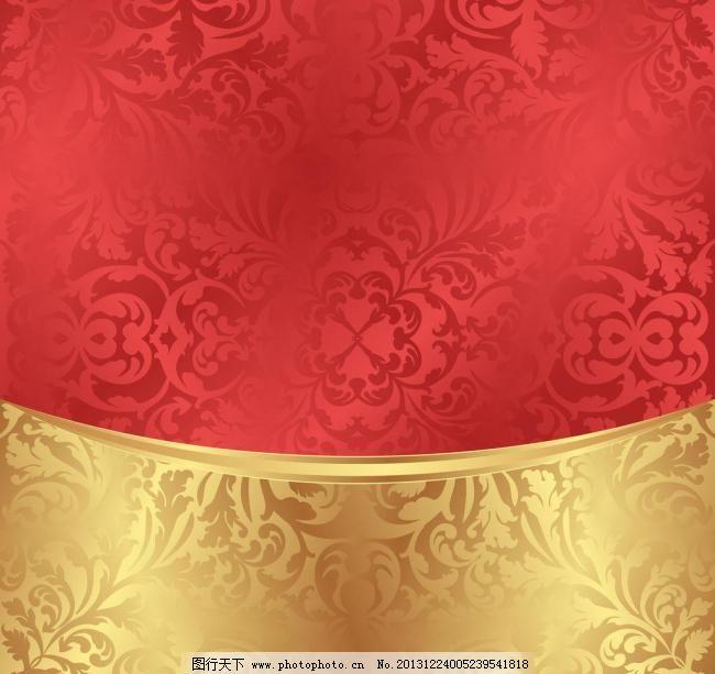 欧式红色纹理壁纸