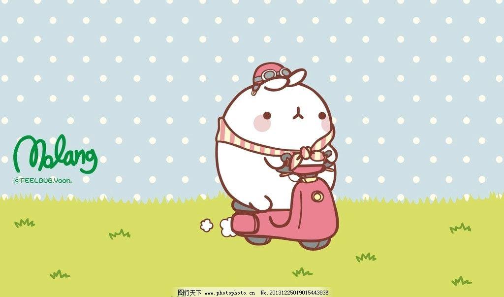 胖兔子 白兔 兔子 卡通 (1024x603)图片