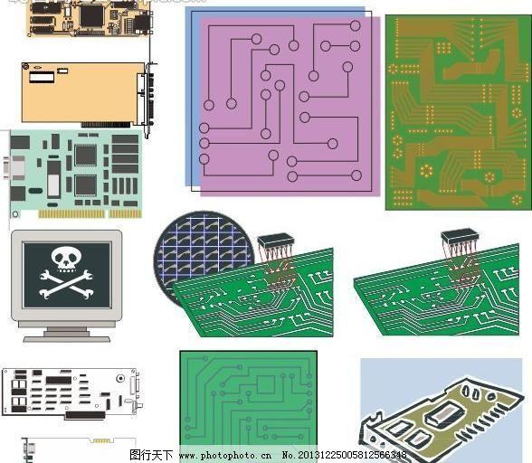 鼠标 键盘 软盘 移动硬盘 电路板 计算机相关配件素材 通讯科技 现代