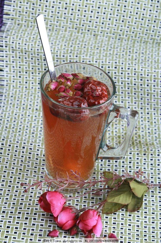 玫瑰红枣茶图片