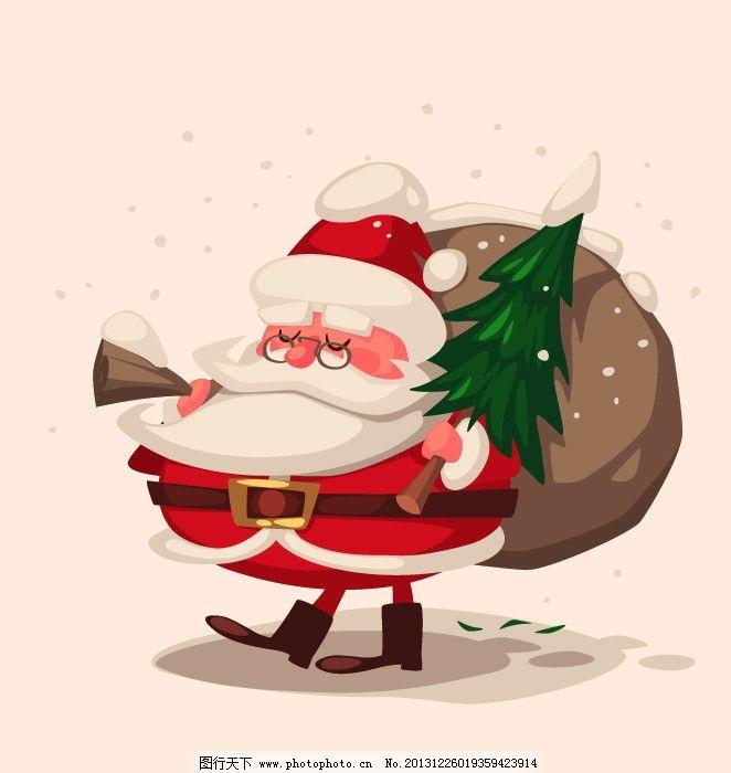 圣诞老人 圣诞 卡通 可爱 萌 圣诞节 节日素材 矢量 eps