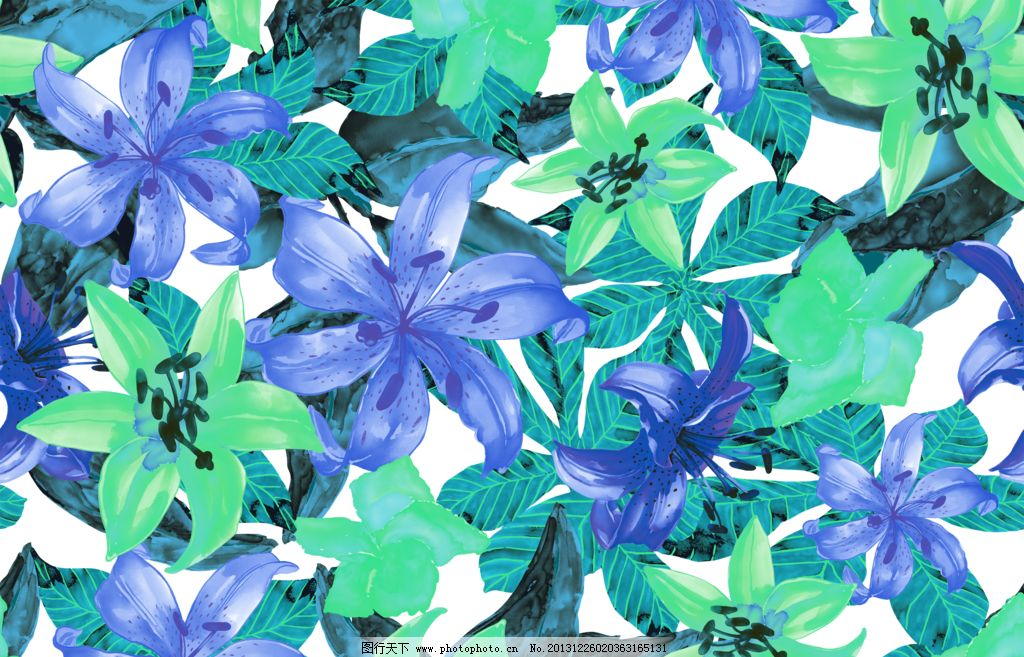 百合移门 百合图案 手绘花纹 精美花纹 手绘花朵 移门花纹 欧式复古