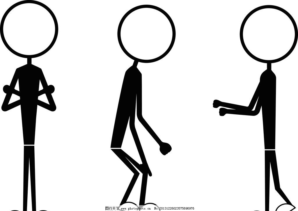 卡通小人 小人 手绘小人 姿势 动作 矢量素材 矢量 人物矢量素材 矢量