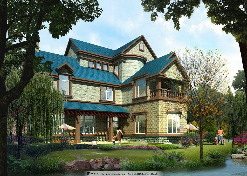 别墅设计效果图图片_建筑设计_环境设计_图行天下图库