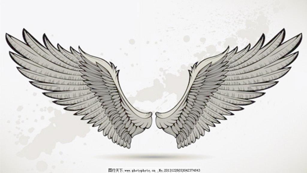 设计图库 psd分层 其他  eps 翅膀 翅膀矢量 翅膀矢量素材 恶魔翅膀