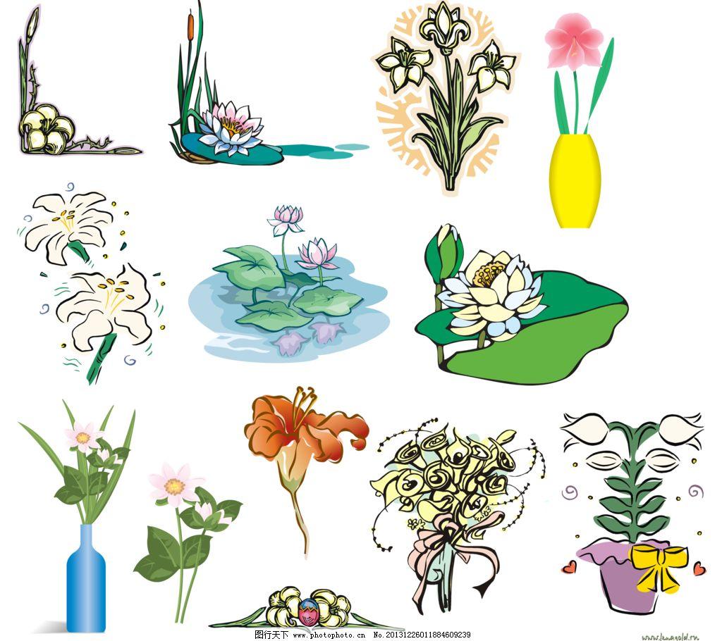 花盆设计图片手绘