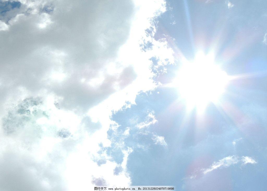 蓝天太阳 蓝天 白云 光影 自然 太阳 云海 自然风景 自然景观 摄影